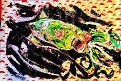 Acrylic on Handmade Paper